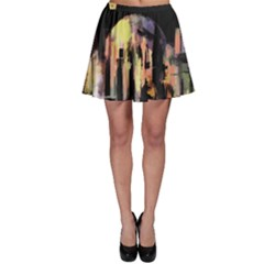 Street Colorful Abstract People Skater Skirt