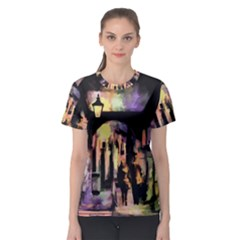 Street Colorful Abstract People Women s Sport Mesh Tee