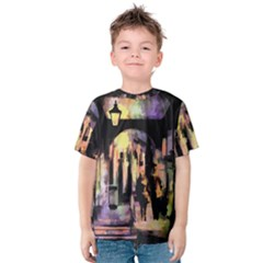Street Colorful Abstract People Kids  Cotton Tee
