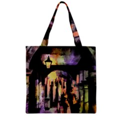 Street Colorful Abstract People Grocery Tote Bag