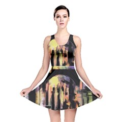 Street Colorful Abstract People Reversible Skater Dress