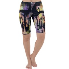 Street Colorful Abstract People Cropped Leggings