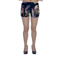 Street Colorful Abstract People Skinny Shorts