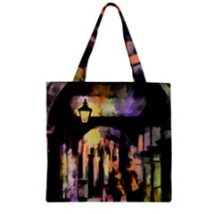 Street Colorful Abstract People Zipper Grocery Tote Bag