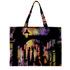 Street Colorful Abstract People Zipper Mini Tote Bag