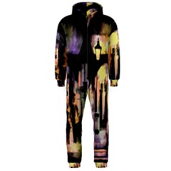 Street Colorful Abstract People Hooded Jumpsuit (men)