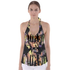 Street Colorful Abstract People Babydoll Tankini Top