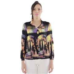 Street Colorful Abstract People Wind Breaker (women)