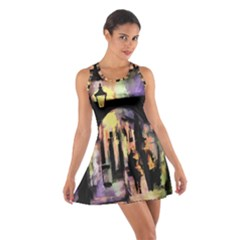 Street Colorful Abstract People Cotton Racerback Dress