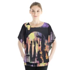 Street Colorful Abstract People Blouse