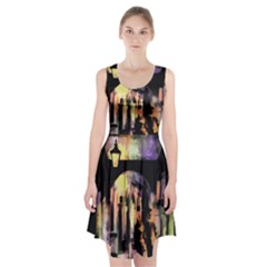 Street Colorful Abstract People Racerback Midi Dress