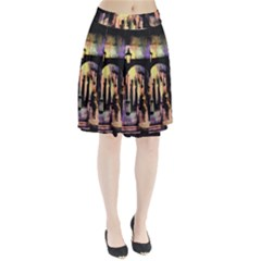 Street Colorful Abstract People Pleated Skirt