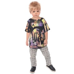 Street Colorful Abstract People Kids  Raglan Tee