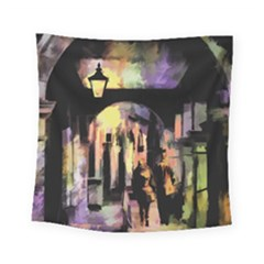 Street Colorful Abstract People Square Tapestry (small)