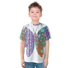 Vintage Style Floral Butterfly Kids  Cotton Tee