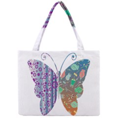 Vintage Style Floral Butterfly Mini Tote Bag