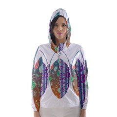Vintage Style Floral Butterfly Hooded Wind Breaker (women)
