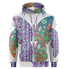 Vintage Style Floral Butterfly Men s Pullover Hoodie