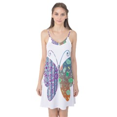 Vintage Style Floral Butterfly Camis Nightgown