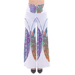 Vintage Style Floral Butterfly Pants