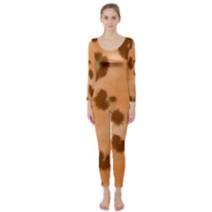 Seamless Tile Background Abstract Long Sleeve Catsuit
