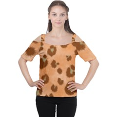 Seamless Tile Background Abstract Women s Cutout Shoulder Tee