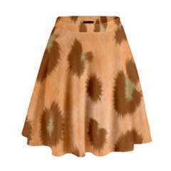 Seamless Tile Background Abstract High Waist Skirt