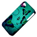 Texture Butterflies Background Apple iPhone 4/4S Hardshell Case (PC+Silicone) View4