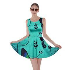 Texture Butterflies Background Skater Dress