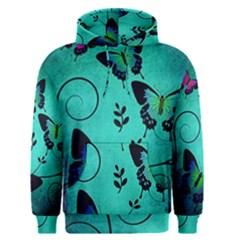 Texture Butterflies Background Men s Pullover Hoodie