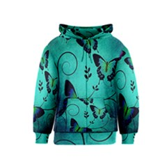 Texture Butterflies Background Kids  Zipper Hoodie