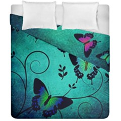 Texture Butterflies Background Duvet Cover Double Side (california King Size)