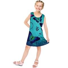 Texture Butterflies Background Kids  Tunic Dress