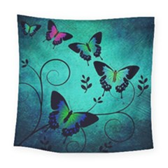 Texture Butterflies Background Square Tapestry (large)