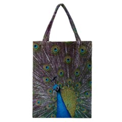 Peacock Feather Beat Rad Blue Classic Tote Bag