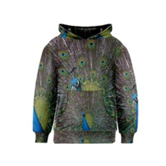 Peacock Feather Beat Rad Blue Kids  Pullover Hoodie