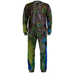Peacock Feather Beat Rad Blue Onepiece Jumpsuit (men)