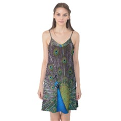 Peacock Feather Beat Rad Blue Camis Nightgown
