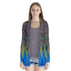 Peacock Feather Beat Rad Blue Cardigans