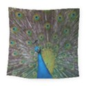 Peacock Feather Beat Rad Blue Square Tapestry (Large) View1