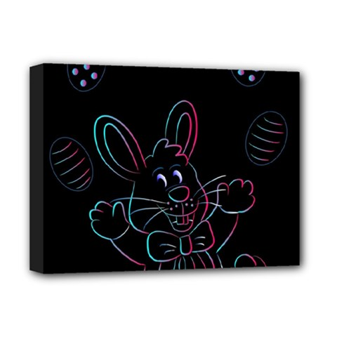 Easter Bunny Hare Rabbit Animal Deluxe Canvas 16  X 12