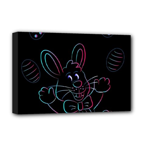 Easter Bunny Hare Rabbit Animal Deluxe Canvas 18  X 12