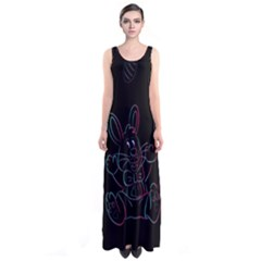 Easter Bunny Hare Rabbit Animal Sleeveless Maxi Dress