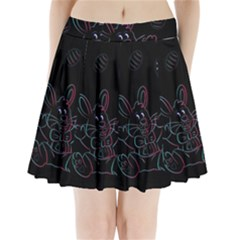Easter Bunny Hare Rabbit Animal Pleated Mini Skirt