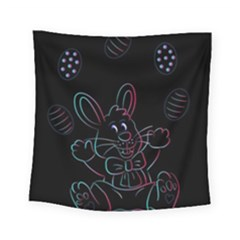 Easter Bunny Hare Rabbit Animal Square Tapestry (small)