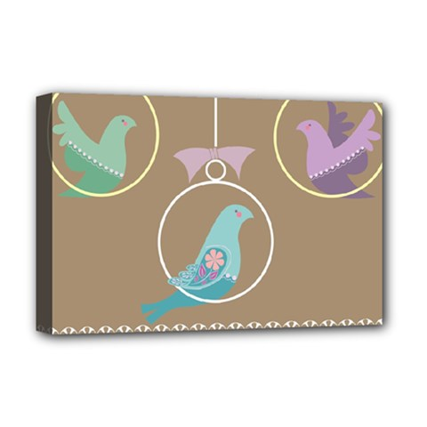 Isolated Wallpaper Bird Sweet Fowl Deluxe Canvas 18  X 12