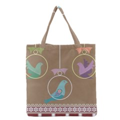 Isolated Wallpaper Bird Sweet Fowl Grocery Tote Bag