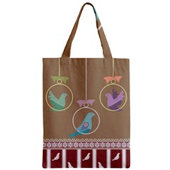 Isolated Wallpaper Bird Sweet Fowl Zipper Classic Tote Bag