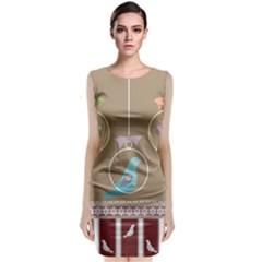 Isolated Wallpaper Bird Sweet Fowl Classic Sleeveless Midi Dress