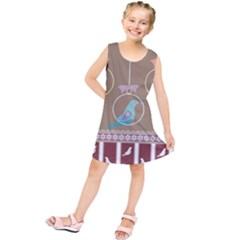 Isolated Wallpaper Bird Sweet Fowl Kids  Tunic Dress